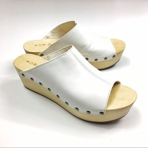 Anthropologie KDB Studded Leather Philomena Clogs